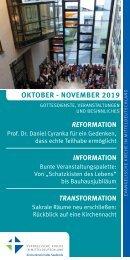 Veranstaltungsprogramm des Evangelischen Kirchenkreises Halle-Saalkreis für Oktober und November 2019