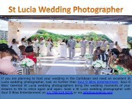 International Wedding Photographers In St Lucia