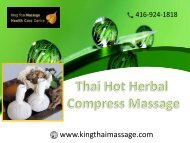 Exclusive Thai Hot Herbal Compress Massage by King Thai massage