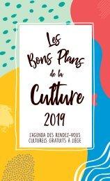 Les bons plans de la Culture 2019