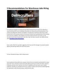 4 Distribution Center Recruitment