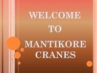 Mantikore Cranes PDF