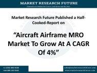 Aircraft Airframe MRO Market