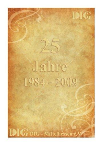 Festschrift 25 Jahre DIG Mittelhessen