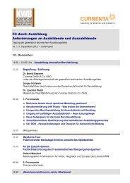 Programm - Kuratorium der Deutschen Wirtschaft für Berufsbildung