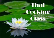 THAI COOKING CLASS RECIPE BOOK