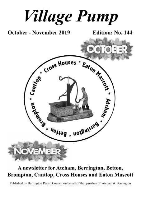 Berrington Village Pump Edition 144 Oct - Nov 2019