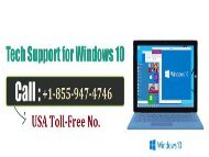 Repair Window 10 update problems, by acquiring help from +1-855-947-4746 windows 10 customer service