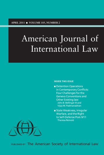 American Journal of International Law - American Society of ...