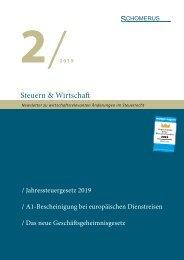 Steuern & Wirtschaft 2/19
