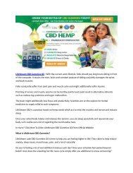 LifeStream Labs CBD Oil : The Gummies That Give You Relief? | Review