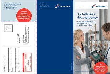 Flyer hocheffiziente Heizungspumpe - Mainova AG