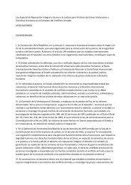Ley Especial de Reparación Integral y Acceso a la Justicia para Víctimas de Graves Violaciones a Derechos Humanos en el Contexto del Conflicto Armado