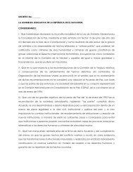 Borrador de Proyecto de Ley de Reconcialiación Nacional para discusión
