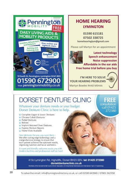Lymington Directory Oct/Nov 19