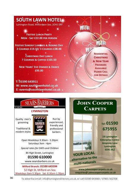 Lymington Directory Oct/Nov 19