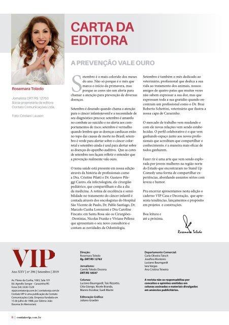 Contato VIP - Setembro de 2019 - Santo Ângelo