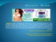 Ketovatru - Maintenance Of The Cholesterol Levels