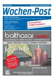 Wochen-Post | KW 39 | 26. September 2019