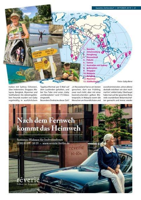 Gazette Zehlendorf Oktober 2019