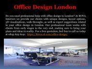 Office Design Company London - Kova Interiors