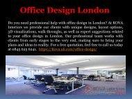 Office Design Company London - Kova Interiors