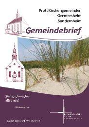 Gemeindebrief Germersheim   Sondernheim - 2 2019