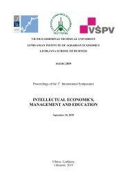 Intellectual Economics, Management and Education
