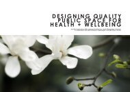 Designing Quality Public Spaces for Health and Well-being