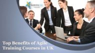 Top Benefits of Agile Training Courses in UK