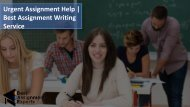 Urgent Assignment Help  Best Assignment Writing Service