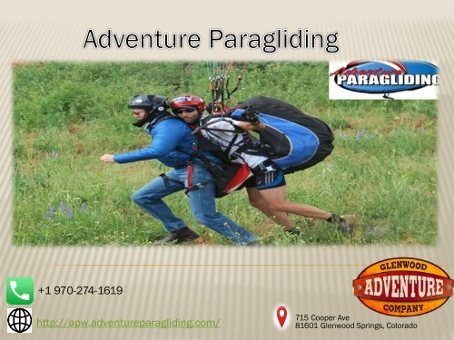 Fun Things to do   Adventure Paragliding   Glenwood Springs