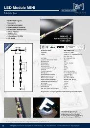 MINI-02 Serie - LED Module für Profilbuchstaben - NP LIGHTING