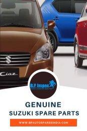 Best Suzuki Car Spare Parts Dealer - BP Auto Spares India
