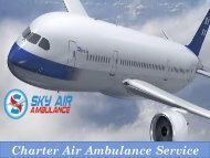 Get Reliable Service of Air Ambulance from Siliguri