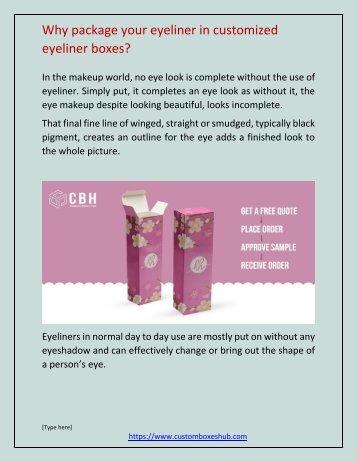 wholesale custom eyeliner boxes