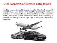 JFK Airport Car Service Long Island