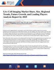 Live Cell Imaging Market Share, Size, Regional Trends, Future Growth, and Leading Players Analysis Report by 2025
