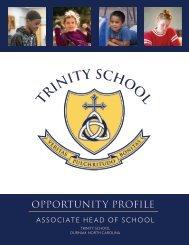 Trinity School Associate Head of School OP