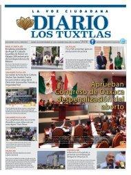 Edición de Diario Los Tuxtlas del día 26 de Septiembre de 2019