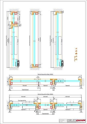 GM ZARGENPROFILE – Schnitte und Profile