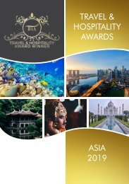 Travel & Hospitality Awards - Asia 2019
