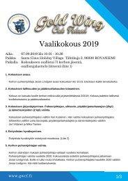 2019 Syyskokous
