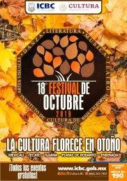 Agenda XVIII Festival de Octubre 2019