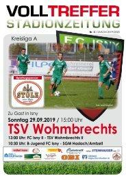 3. Ausgabe Stadionzeitung 2019/20