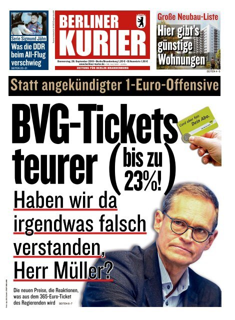 Berliner Kurier 26.09.2019