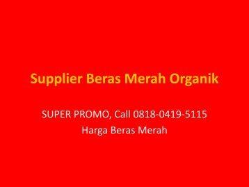 Supplier Beras Merah Organik pdf