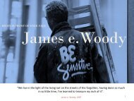 Looking back while looking forward_James e. Woody_Biography