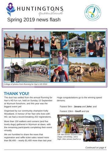 Huntingtons Queensland Spring 19 News Flash