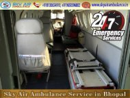 Use Sky Air Ambulance in Bhopal with Excellent Medical Team